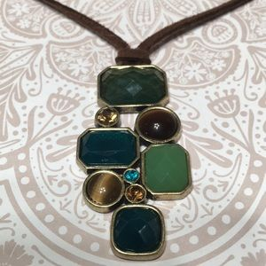 Geometric necklace earth tones Lia Sophia